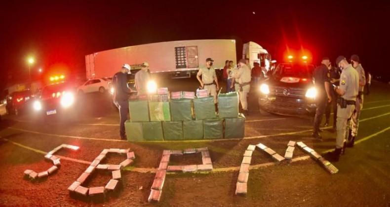 Ação integrada de polícias resulta na apreensão de uma das maiores cargas de pasta base