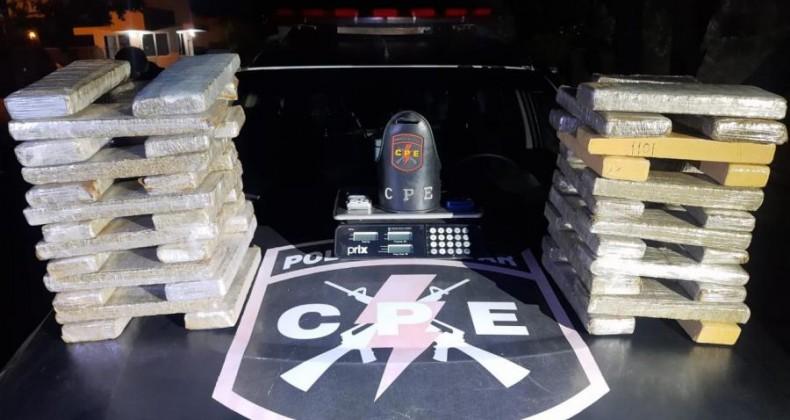Em menos de 24 horas, Polícia Militar apreende 100 kg de drogas no Estado