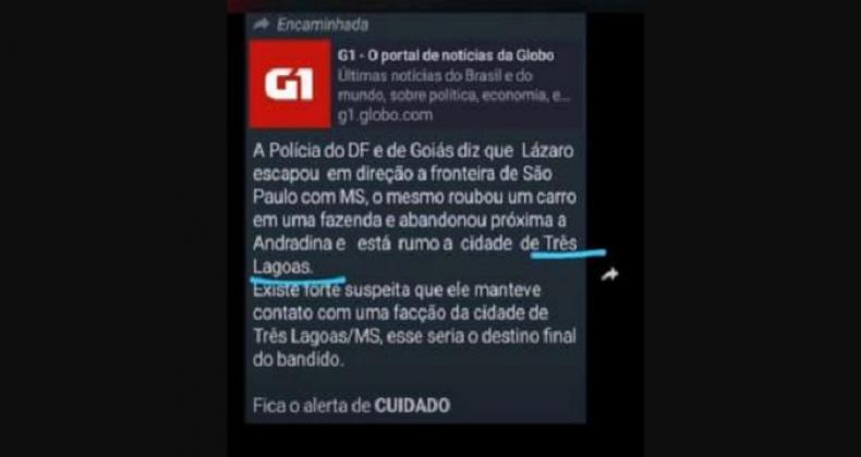 Falsos links do G1 são usados no WhatsApp para espalhar notícias falsas sobre caso Lázaro