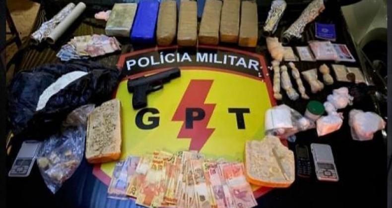 Polícia Militar de Goiás apreende nas últimas horas drogas, armas e munições