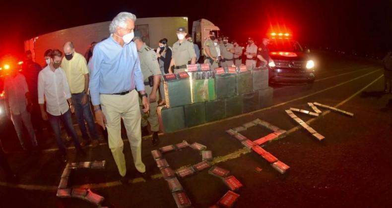 Mais de 136 toneladas de drogas são apreendidas pelas forças de segurança de Goiás em dois