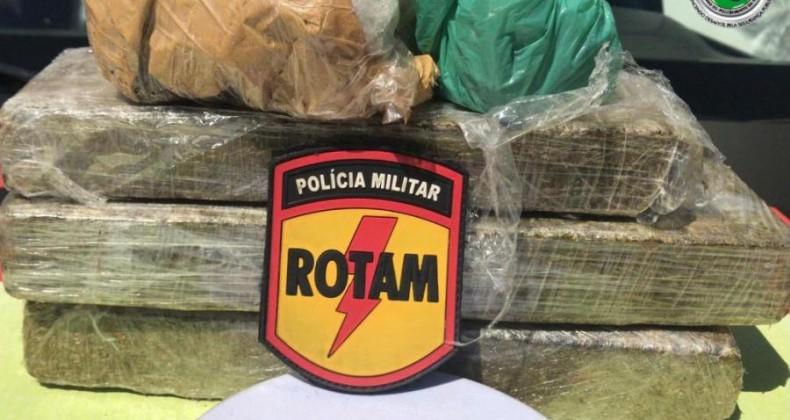 Últimas horas: Polícia Militar apreende mais de 170 kg de drogas no Estado